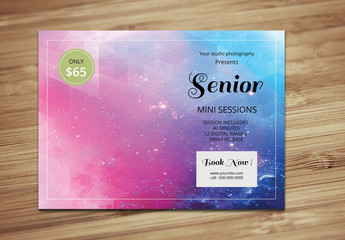 Photography Studio Senior Special Flyer Layout 2