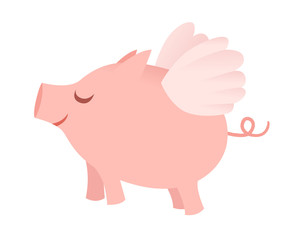 Single flying pig