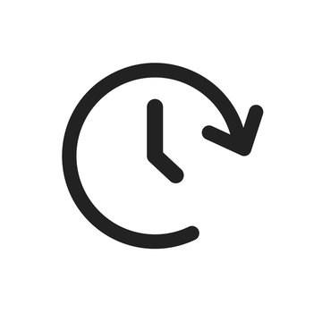 Clock tome vector icon. Timer 24 hours sign illustration.