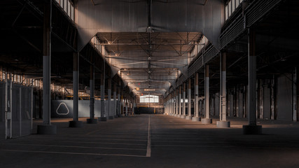 Inside warehouse interior