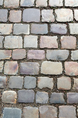 Street pavement and old cobblestones
