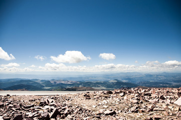 View of valley from Pikes Peak, Colorado