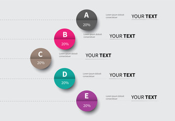Folded Circles Infographic Layout