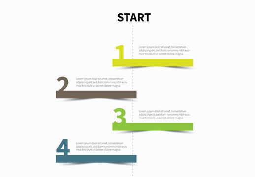 Vertical Timeline Infographic Layout 1
