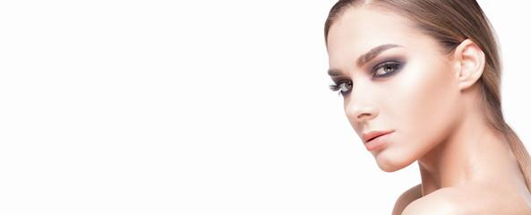 Beauty portrait of caucasian girl.