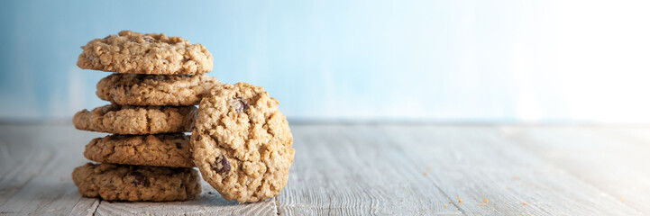 Photo sur Plexiglas Biscuit Chocolate Chip Cookies