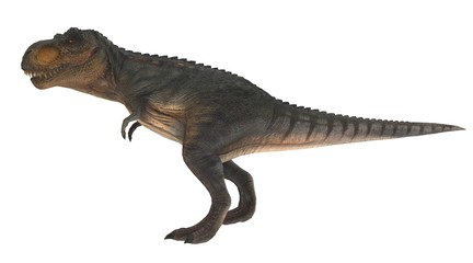 t-rex standing side view 3d illustration
