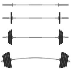 Fitness design elements, Gym emblem. Barbells vector