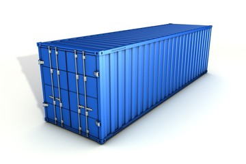 container large blue