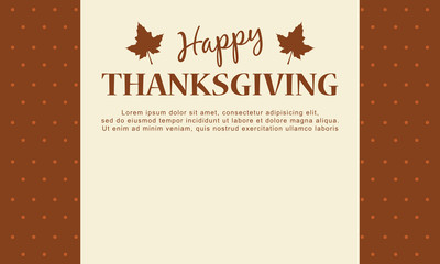 Happy Thanksgiving day card background
