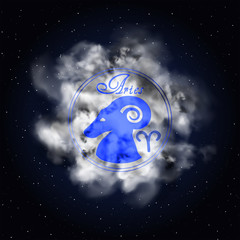 Aries Astrology constellation of the zodiac smoke
