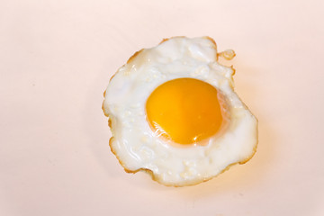 Fried egg detail photograph