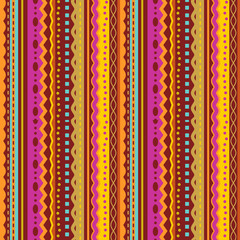 Seamless (you see 4 tiles) stripes and laces pattern (background, wallpaper, print, or swatch) of autumn colors