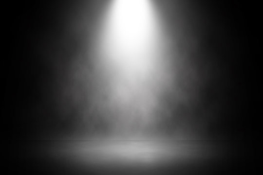Abstract spotlight white stage design background.