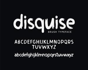 Modern vector font on black background