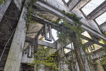 The abandoned rotunda of Bénéstroff
