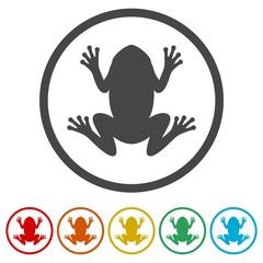 Frog icons set logo - Illustration