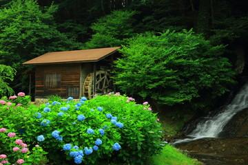 滝と水車小屋