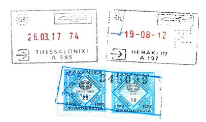 Greece passport stamp