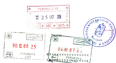 Hungary passport stamps