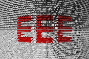 EEE in the form of binary code, 3D illustration