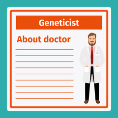 Medical notes about geneticist