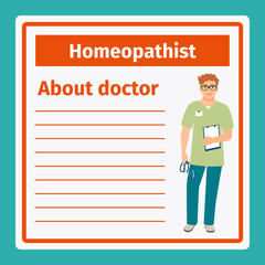 Medical notes about homeopathist