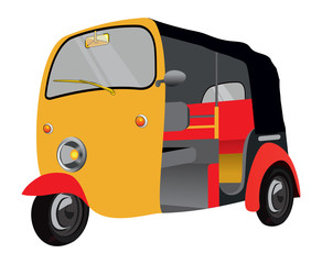 Indian vintage auto vector illustration
