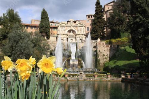 Jardin De La Villa Este Tivoli Rome Italie Stock Photo And