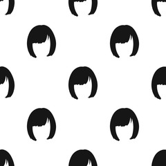 Square.Back hairstyle single icon in black style vector symbol stock illustration web.