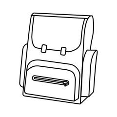 Outline Schoolbag icon. Schools Supplies. Isolated Vector illustration