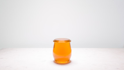 Honey - a jar filled to the brim, just one drop before overflowing.  Life is full and sweet!
