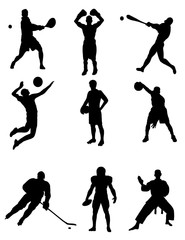 Silhouettes of athletes