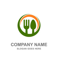 Restaurant Logo Kitchen Culinary Spoon Fork Food Cooking Chef Vector Design Business Template