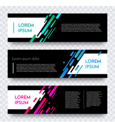 Modern web banner vector color abstract template