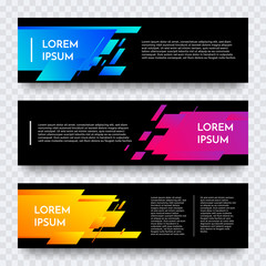 Web banners set for vector digital website background template