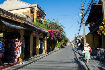 Picturesque Street in Hoi An, Vietnam