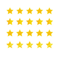 Vector set of star for vote or rating