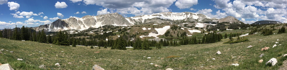 Snowy Range of the Rocky Mountains in Wyoming