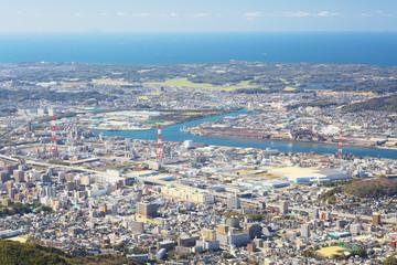 View of Kitakyushu City from Mt. Sarakura