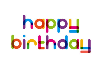 happy birthday lettering, simple text
