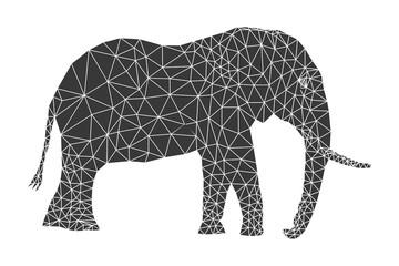 Polygonal elephant pattern