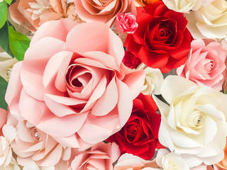 Beautiful rose decoration from paper for background