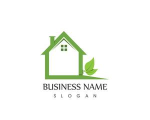 Building Home Nature Logo
