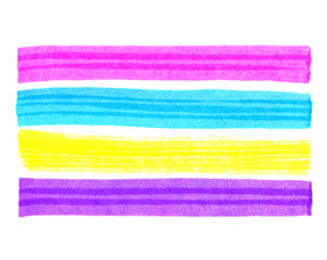 Elements for design in the form of bright colorful stripes