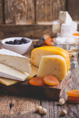 Cheese and wine party  table