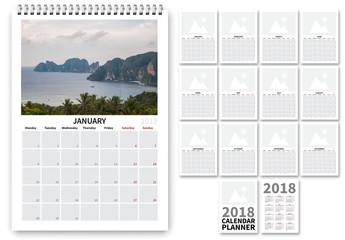 2018 Calendar Layout 1