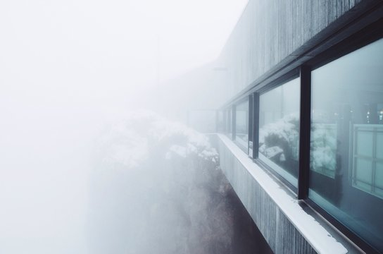 Building In Foggy Weather
