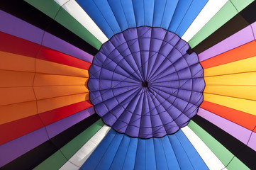 Full Frame Shot Of Colorful Hot Air Balloon Canvas