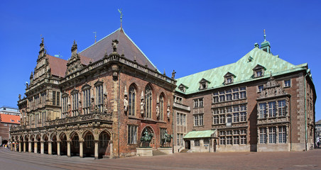 Old town hall building in Bremen
